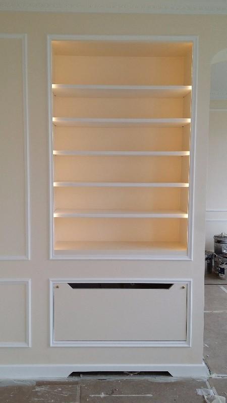 menuisier biblioth que biblioth que avec cache radiateur int gr paris. Black Bedroom Furniture Sets. Home Design Ideas