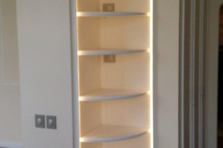 Meuble d'angle avec LEDs