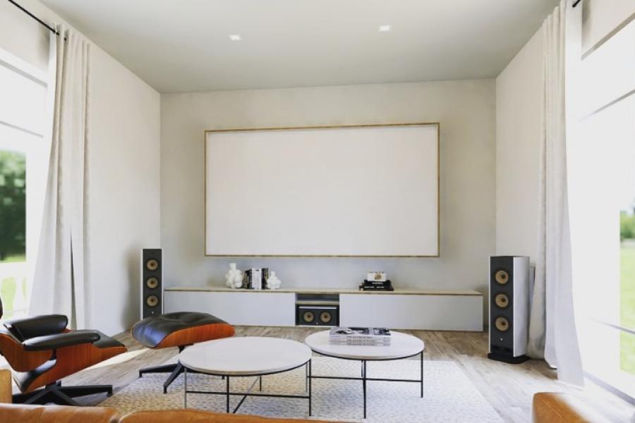 Mobilier sur mesure pour la salle Home Cinema d'un client à l'Etang la Ville