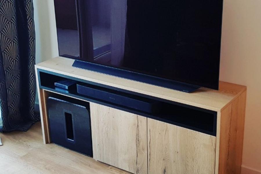 Bibliothèque et meuble TV sur mesure